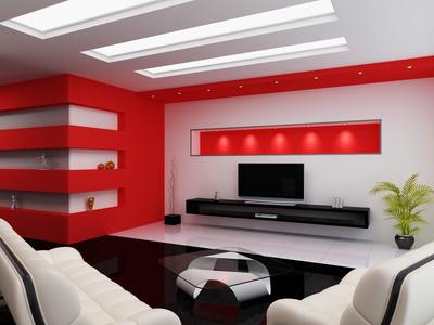 Czerwony kolor w domu