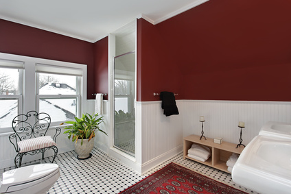 Kolory w łazience. Czerwień.